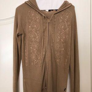 BCBG MaxAzria Camel Zip Sweater - M